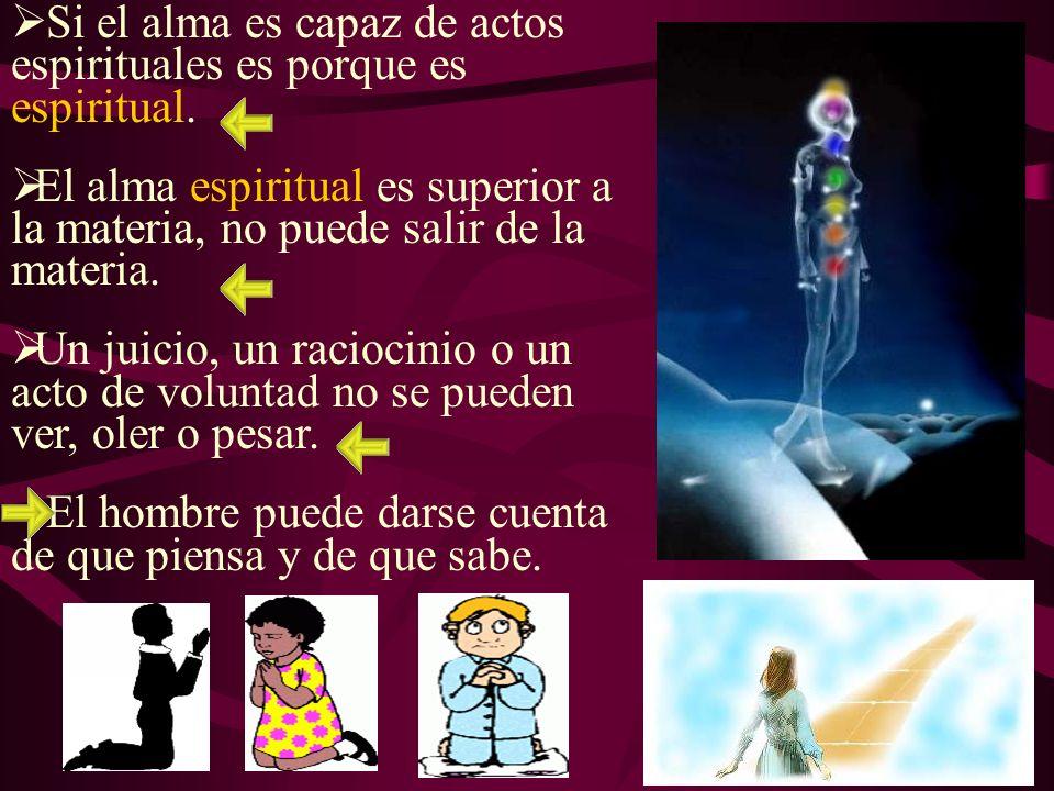 Si el alma es capaz de actos espirituales es porque es espiritual.