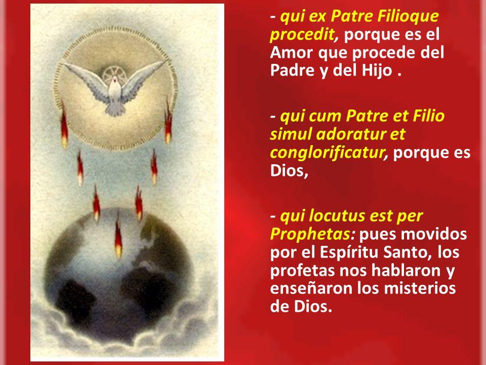 2.La Misión del Espíritu Santo Coopera con el Padre y el Hijo desde el comienzo del Designio de nuestra salvación y hasta su consumación.