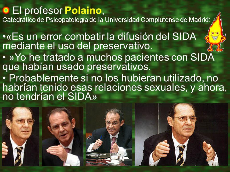 El profesor Polaino, Catedrático de Psicopatología de la Universidad Complutense de Madrid: «Es un error combatir la difusión del SIDA mediante el uso del preservativo.