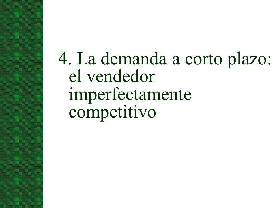 4. La demanda a corto plazo: el vendedor imperfectamente competitivo