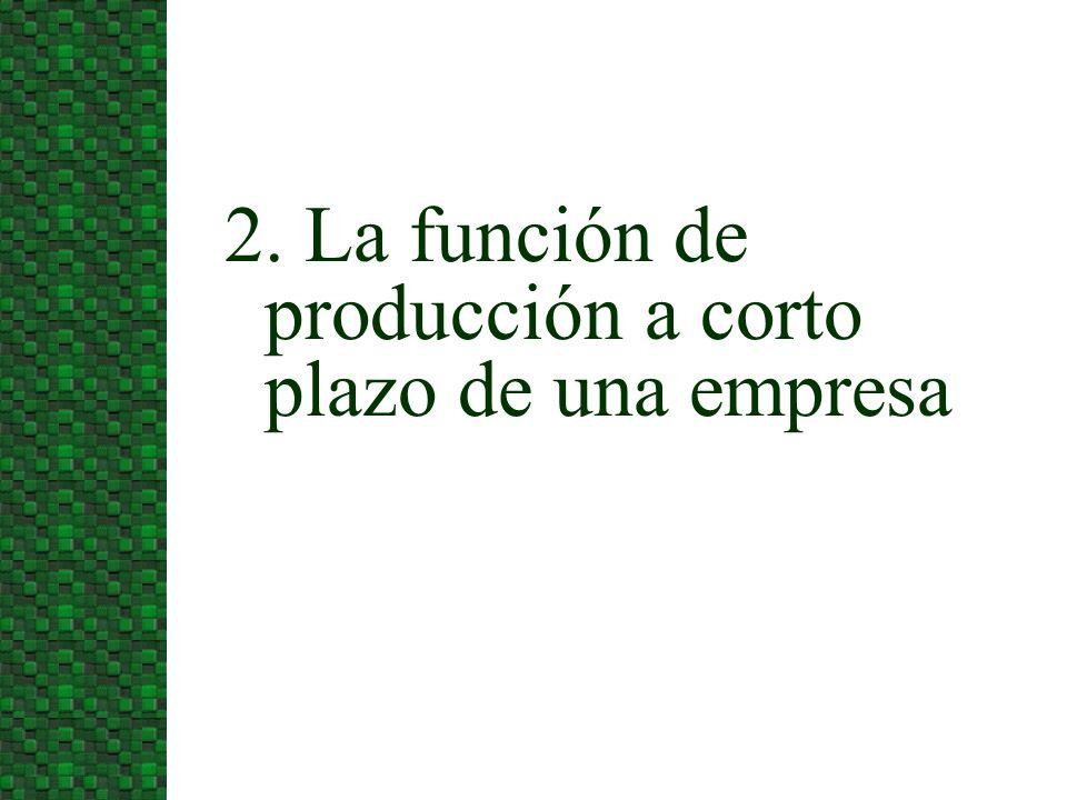 2. La función de producción a corto plazo de una empresa