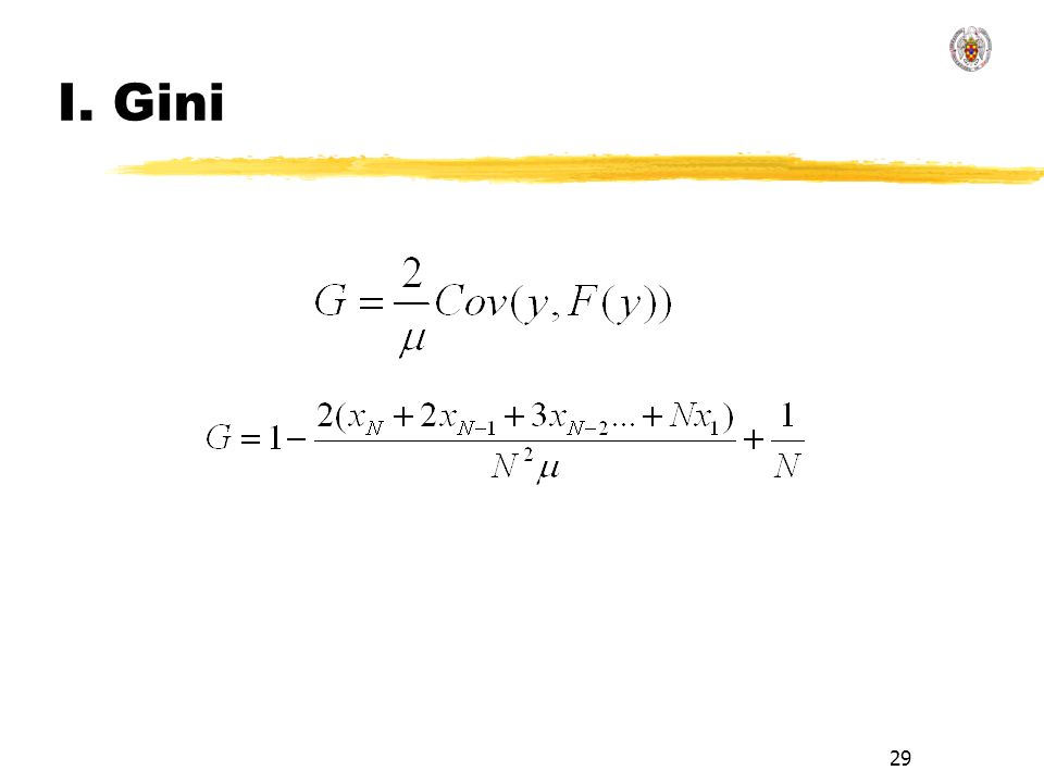 29 I. Gini