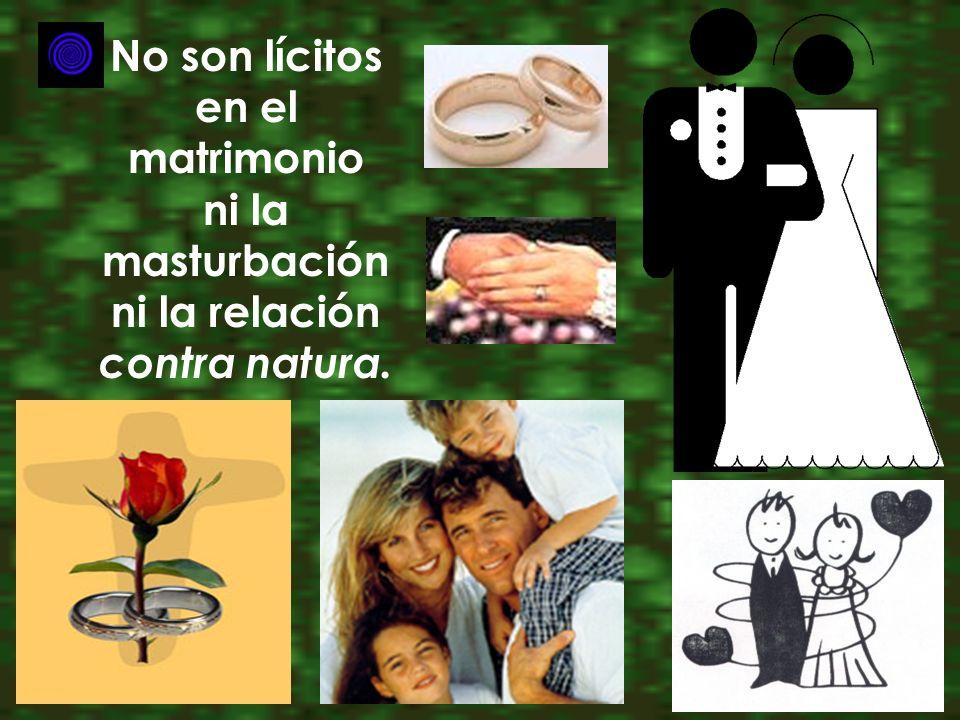 No son lícitos en el matrimonio ni la masturbación ni la relación contra natura.