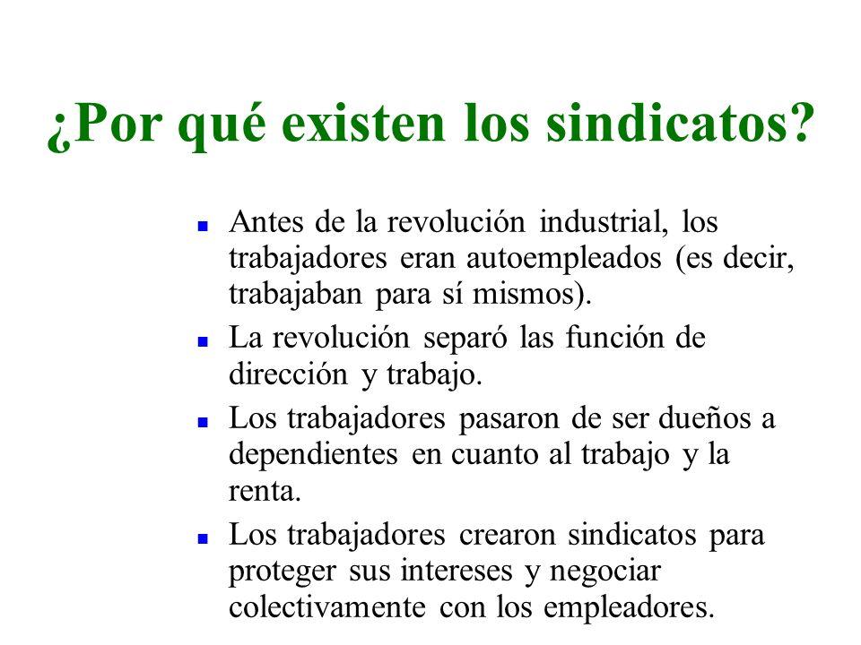 n Antes de la revolución industrial, los trabajadores eran autoempleados (es decir, trabajaban para sí mismos). n La revolución separó las función de