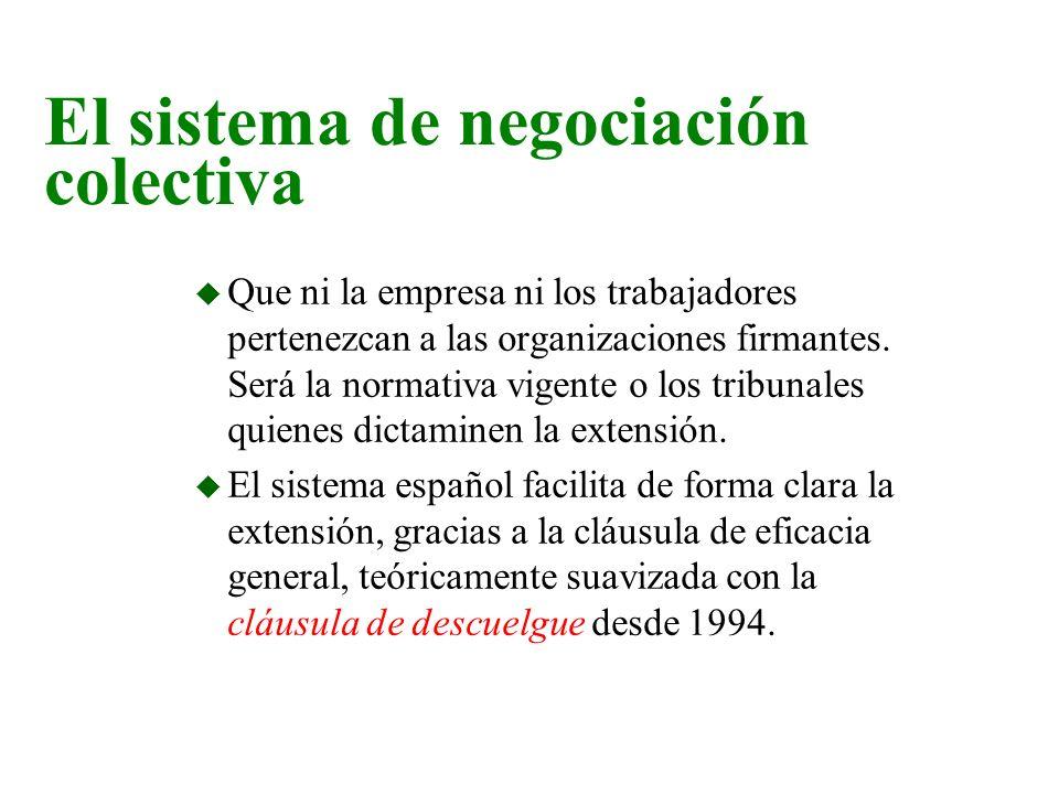 n El sistema negociador español.