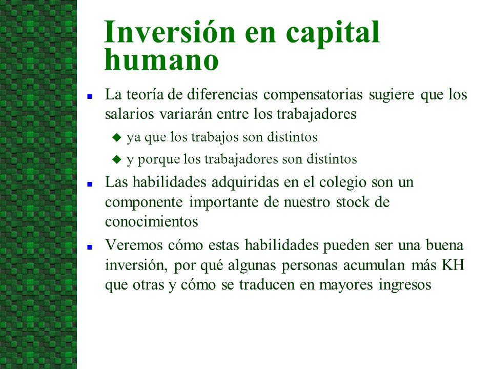 Capital Humano: Stock de conocimientos, habilidades y experiencia que llevan a una mayor productividad laboral.