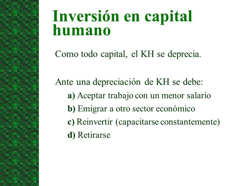 5. Críticas a la teoría del capital humano