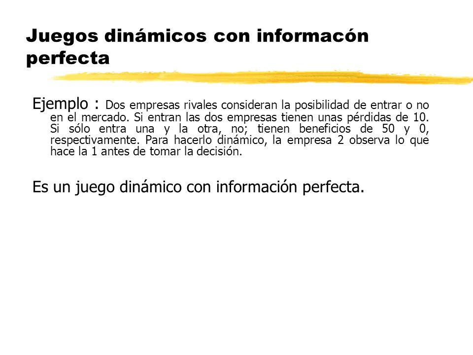UNIVERSIDAD COMPLUTENSE DE MADRID D epartamento de Fundamentos del Análisis Económico I Teoría de juegos: Juegos dinámicos (información perfecta) Rafael Salas mayo de 2010