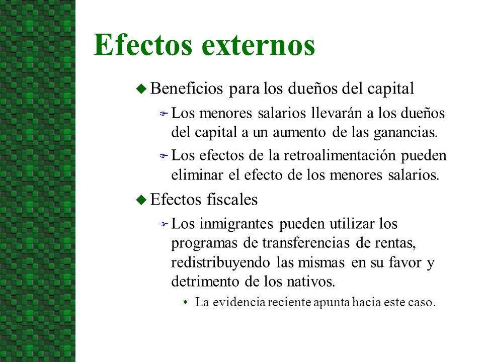 Beneficios para los dueños del capital Los menores salarios llevarán a los dueños del capital a un aumento de las ganancias.