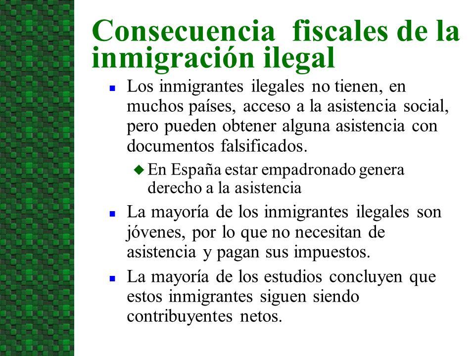Los inmigrantes ilegales no tienen, en muchos países, acceso a la asistencia social, pero pueden obtener alguna asistencia con documentos falsificados.