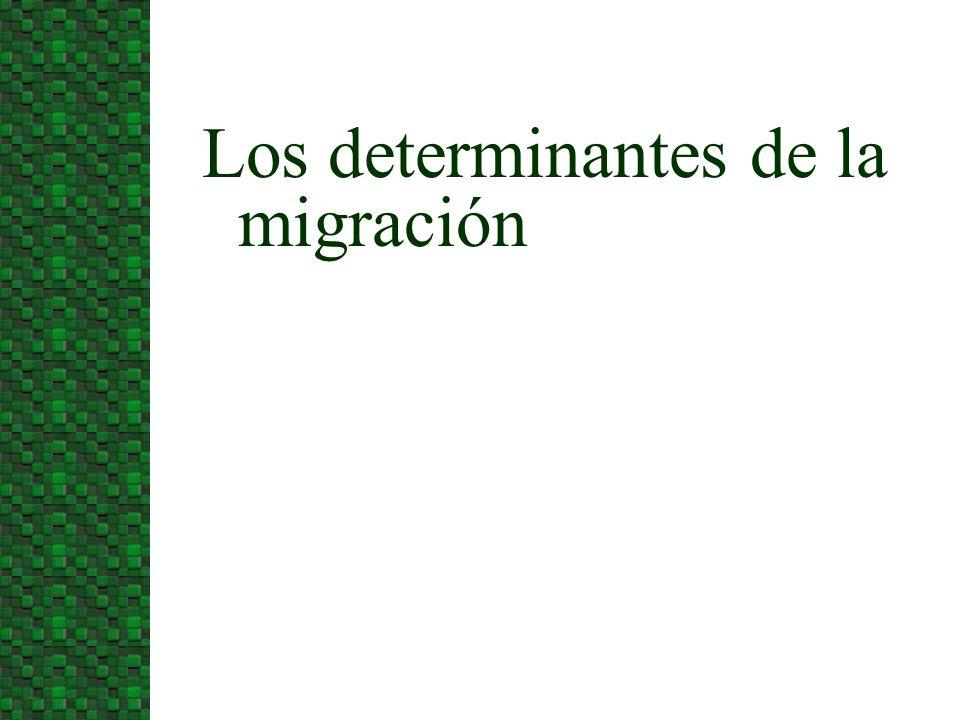 Los determinantes de la migración