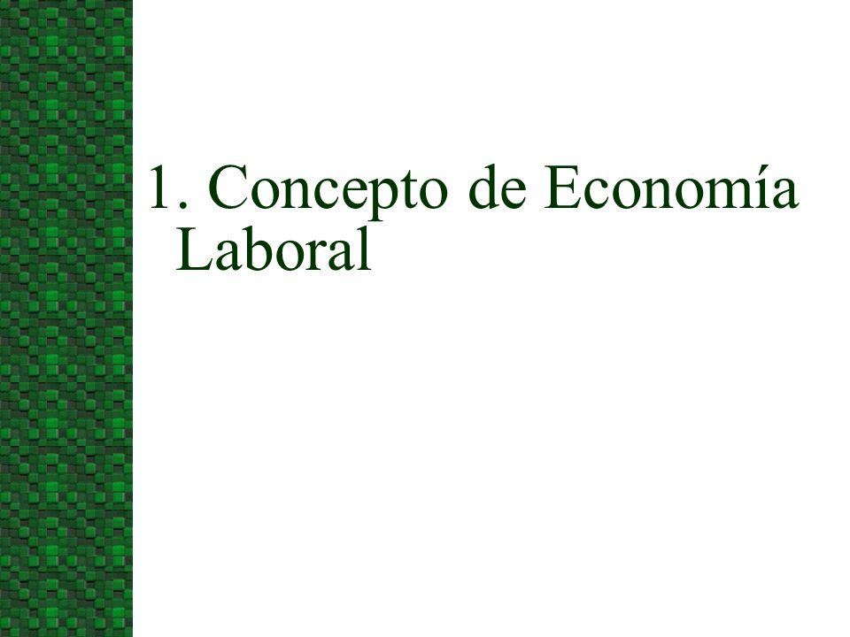 1. Concepto de Economía Laboral