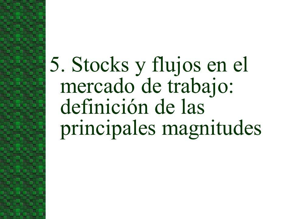 5. Stocks y flujos en el mercado de trabajo: definición de las principales magnitudes