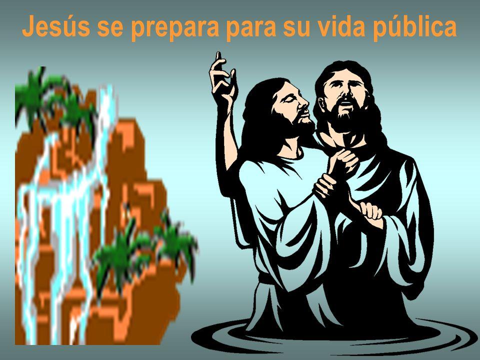 Jesús se prepara para su vida pública