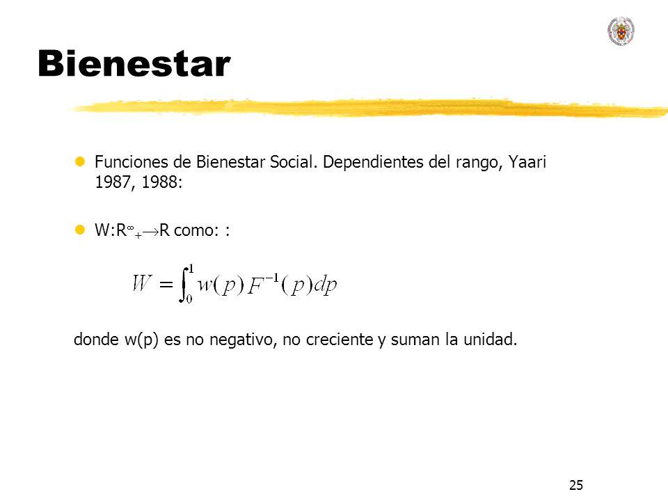25 Bienestar lFunciones de Bienestar Social.