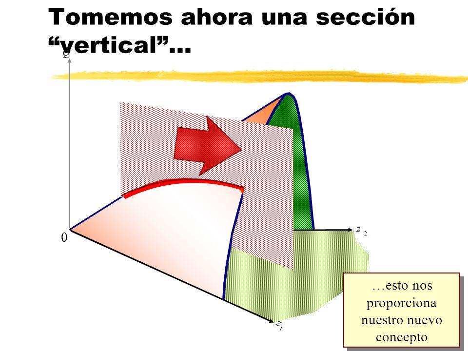 z 2 Q z 1 0 …esto nos proporciona nuestro nuevo concepto Tomemos ahora una sección vertical... l