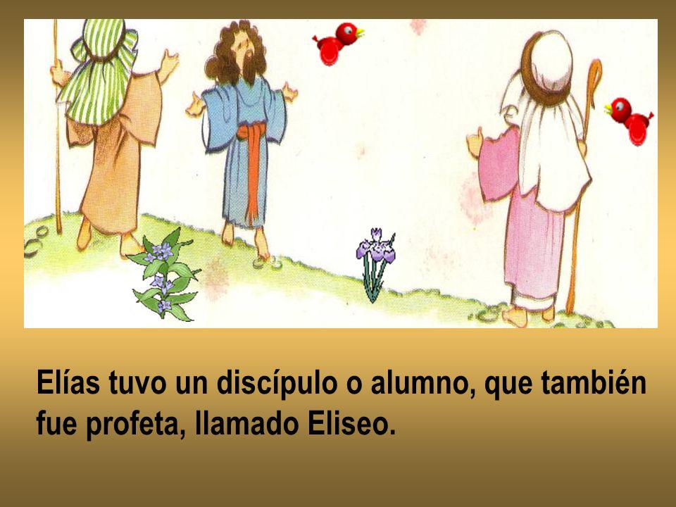 Elías tuvo un discípulo o alumno, que también fue profeta, llamado Eliseo.