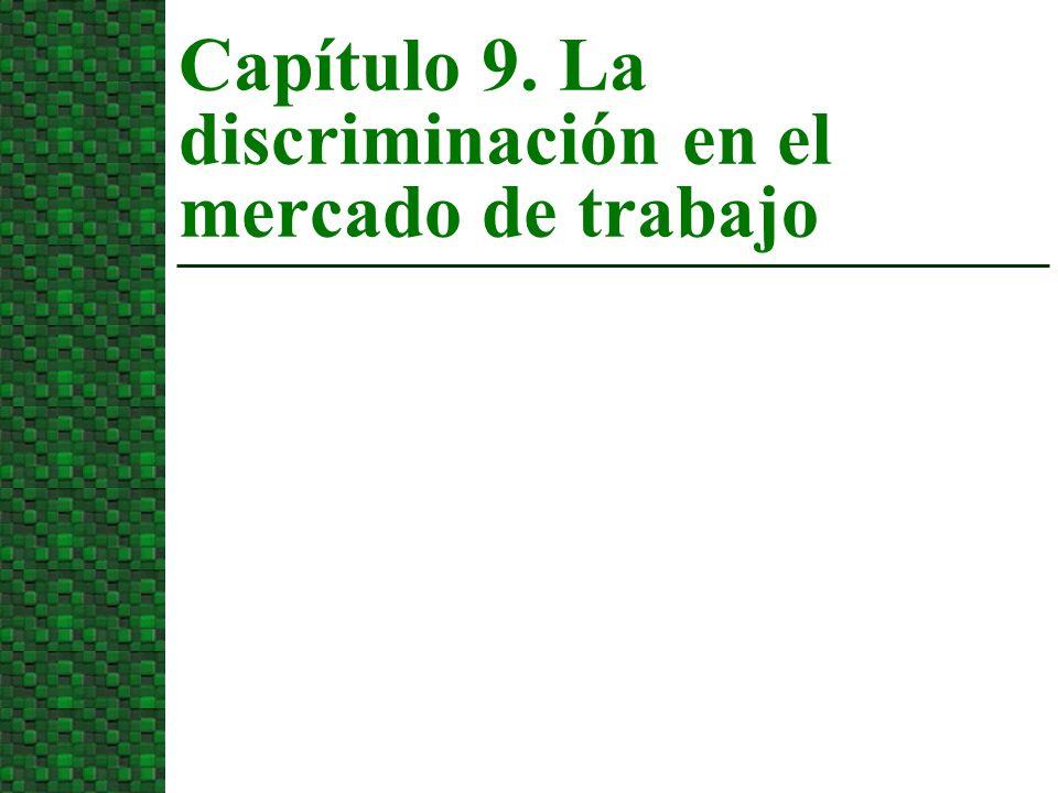n Discriminación previa al mercado u Ocurre antes de que la persona se haya incorporado al mercado.