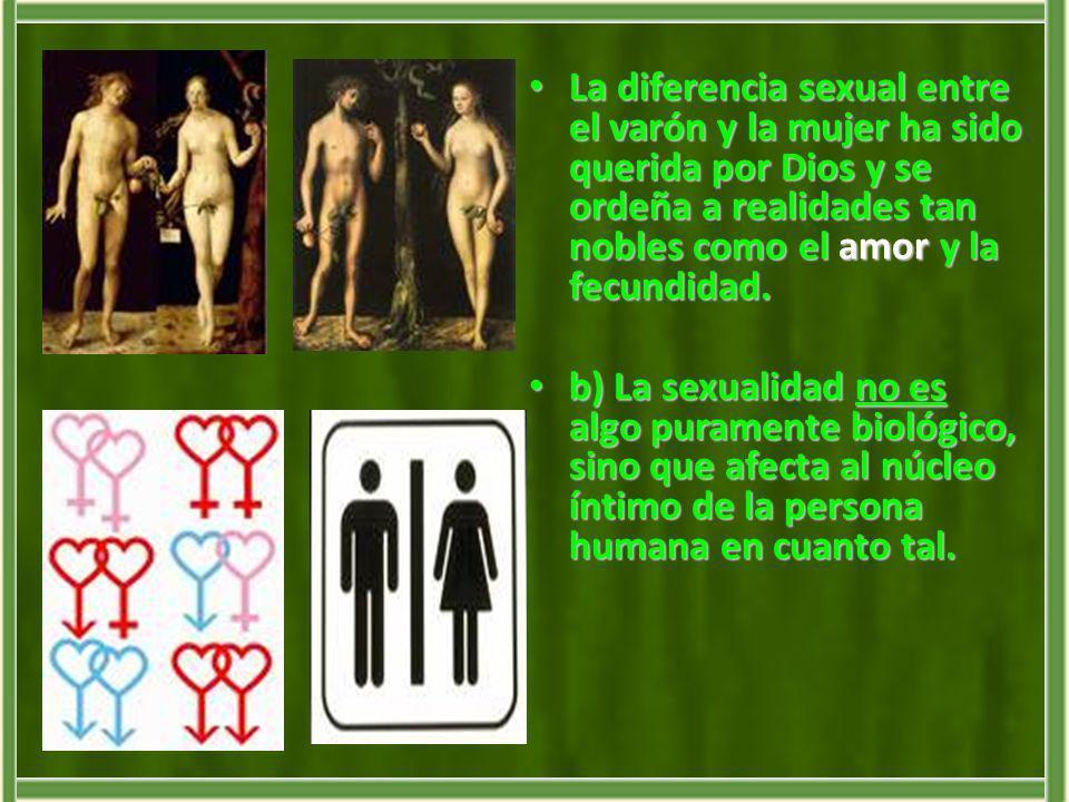 La sexualidad abraza todos los aspectos de la persona humana, en la unidad de su cuerpo y de su alma.
