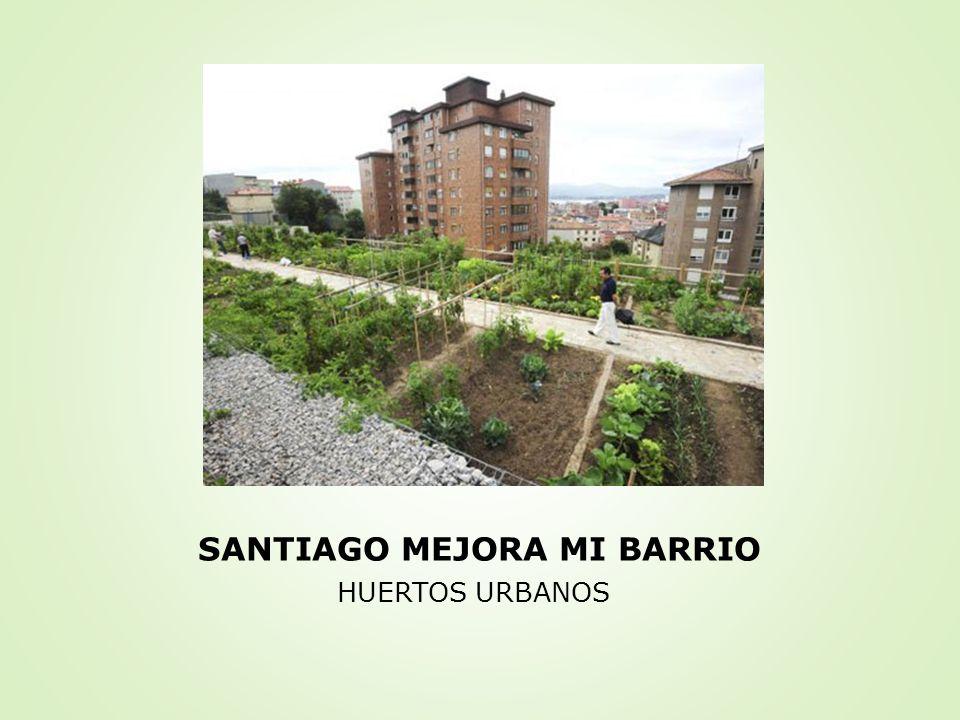 SANTIAGO MEJORA MI BARRIO HUERTOS URBANOS