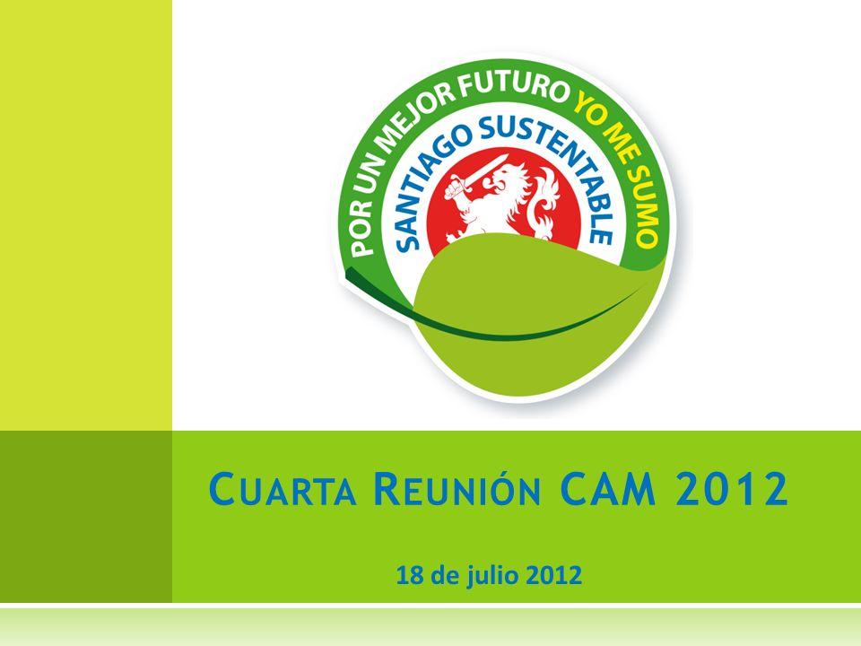 18 de julio 2012 C UARTA R EUNIÓN CAM 2012