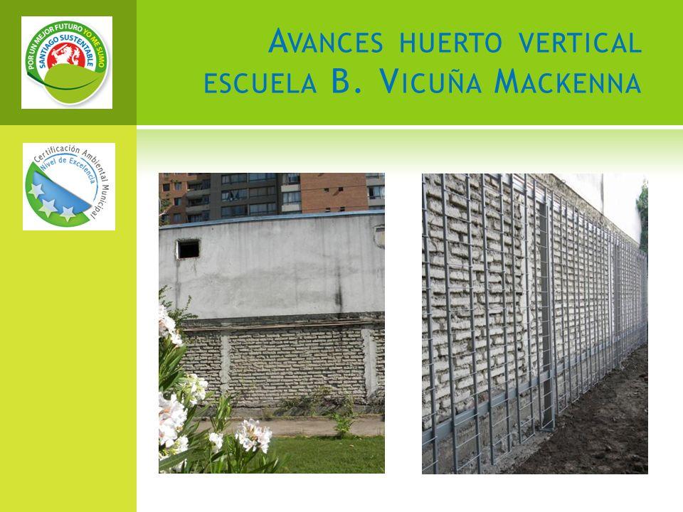 A VANCES HUERTO VERTICAL ESCUELA B. V ICUÑA M ACKENNA
