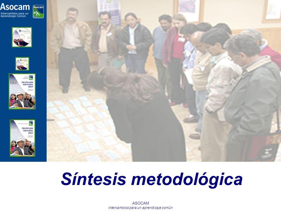 ASOCAM Intercambios para un aprendizaje común Síntesis metodológica