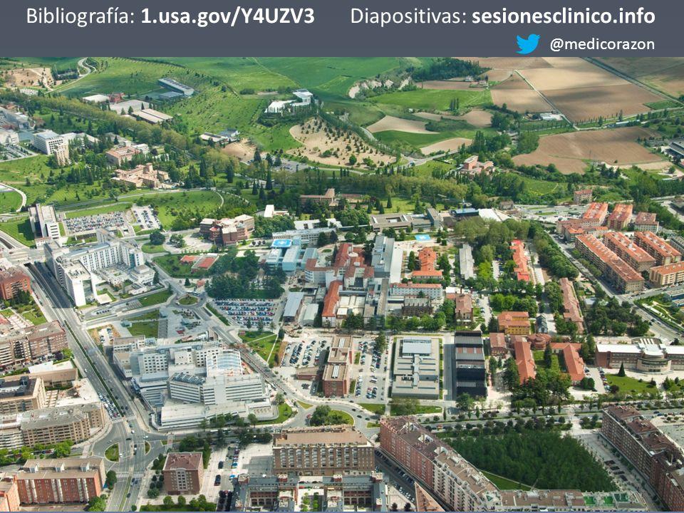 Bibliografía: 1.usa.gov/Y4UZV3Diapositivas: sesionesclinico.info @medicorazon
