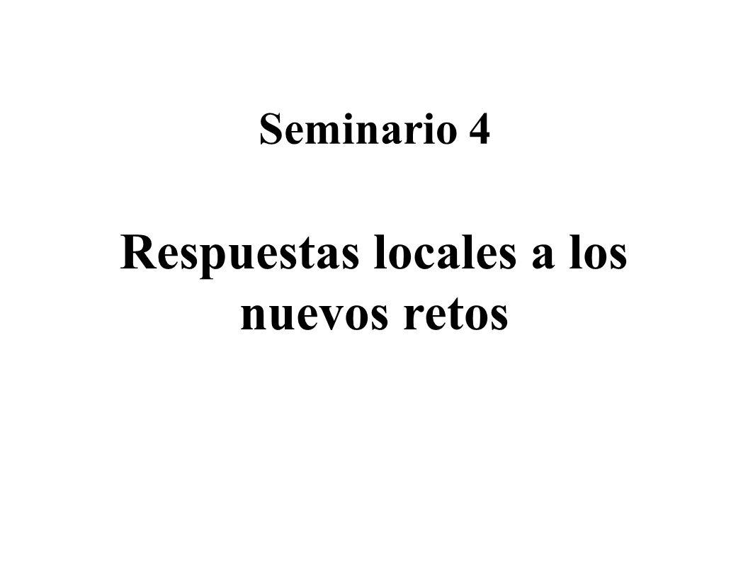Seminario 4 Respuestas locales a los nuevos retos