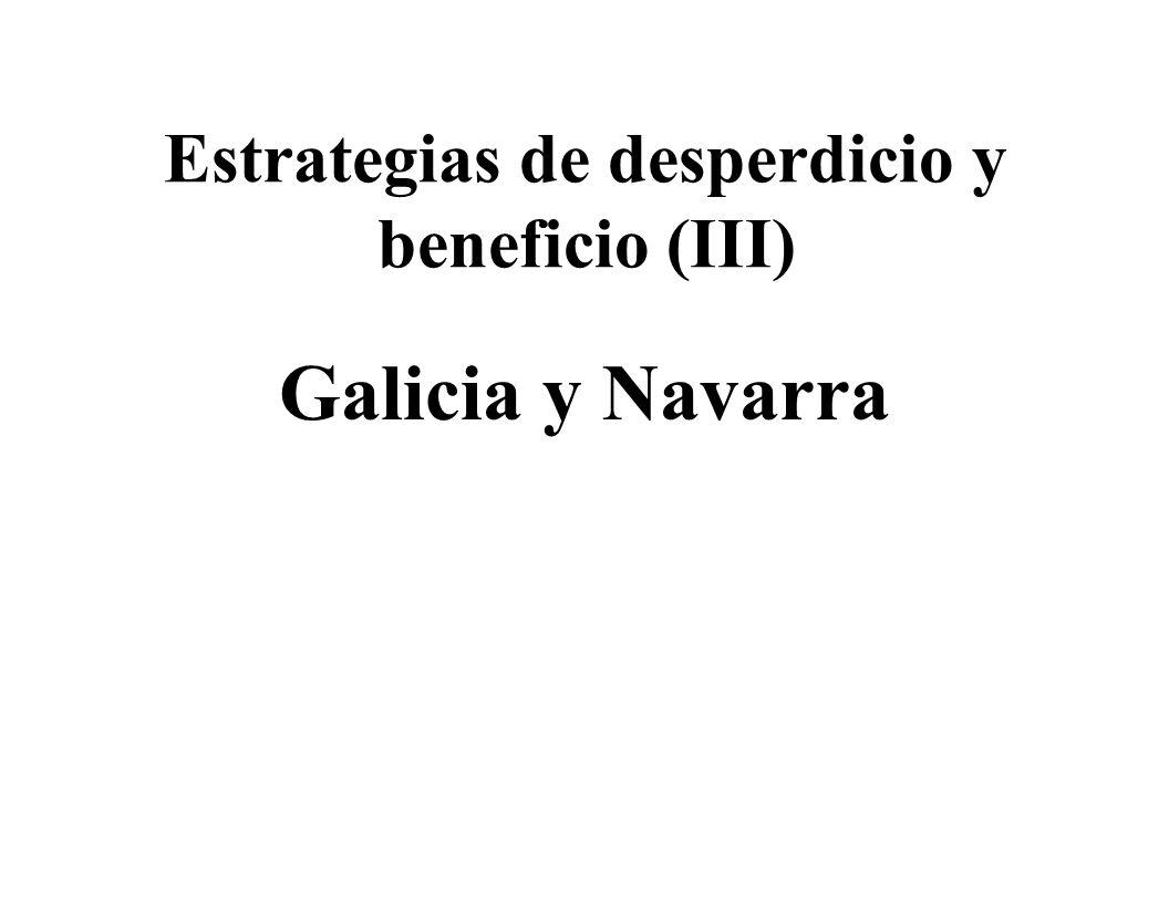 Estrategias de desperdicio y beneficio (III) Galicia y Navarra