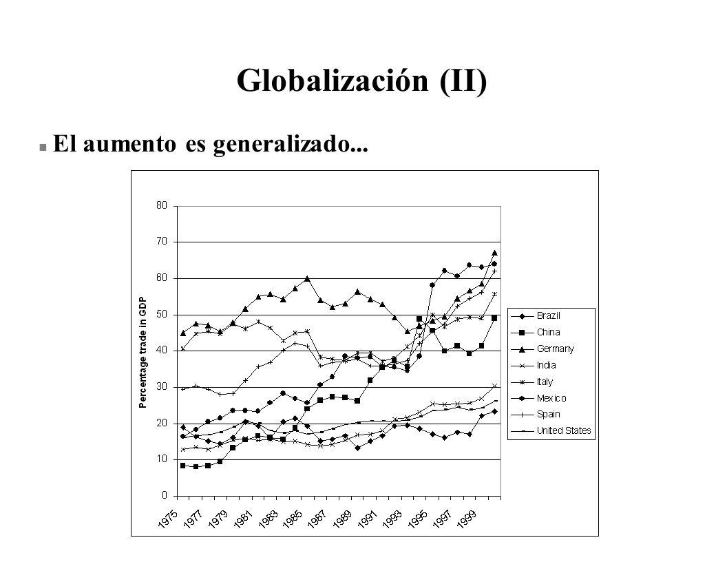 Globalización (II) n El aumento es generalizado...