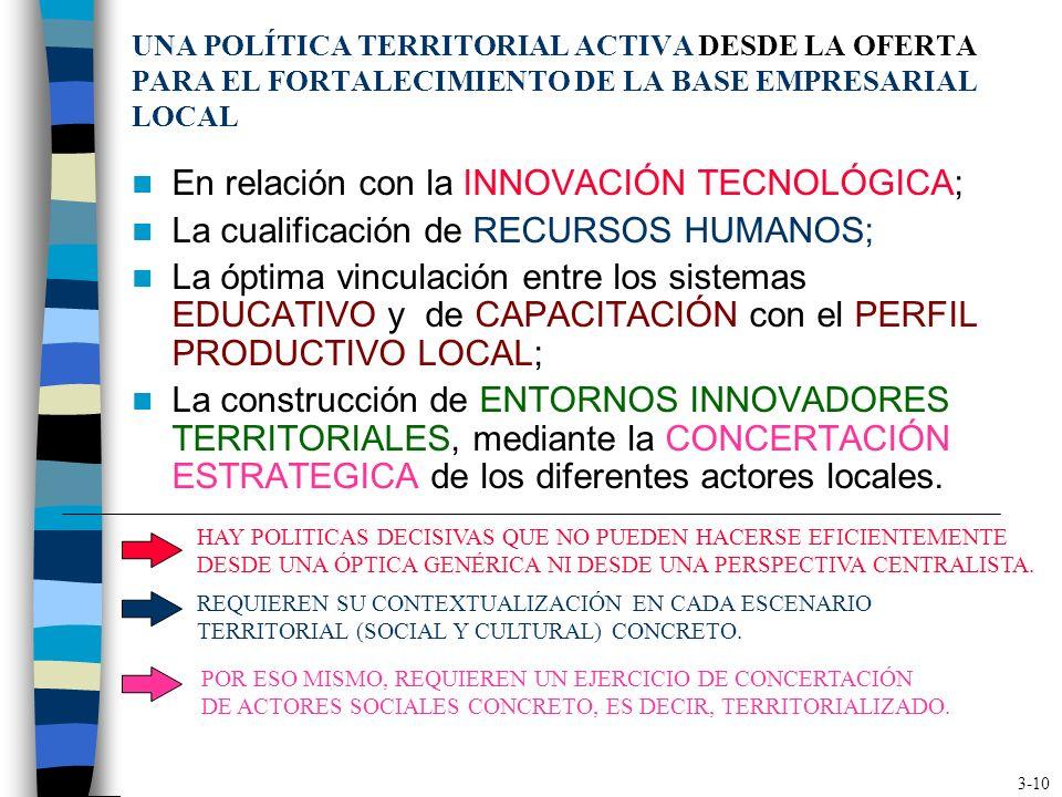 LA NECESARIA MOVILIZACIÓN DE LOS ACTORES SOCIALES TERRITORIALES ESTA MOVILIZACIÓN ES FUNDAMENTAL PARA: Construir los SISTEMAS DE INFORMACIÓN para el d