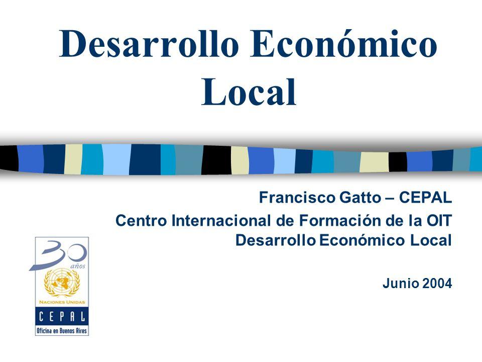 La construcción del tejido institucional Disponibilidad, diversidad y capacidades institucionales Stock actual y construcción de nuevas competencias y
