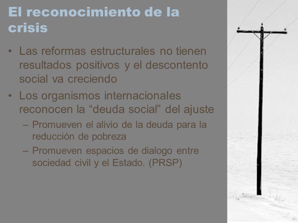 El reconocimiento de la crisis Las reformas estructurales no tienen resultados positivos y el descontento social va creciendo Los organismos internaci