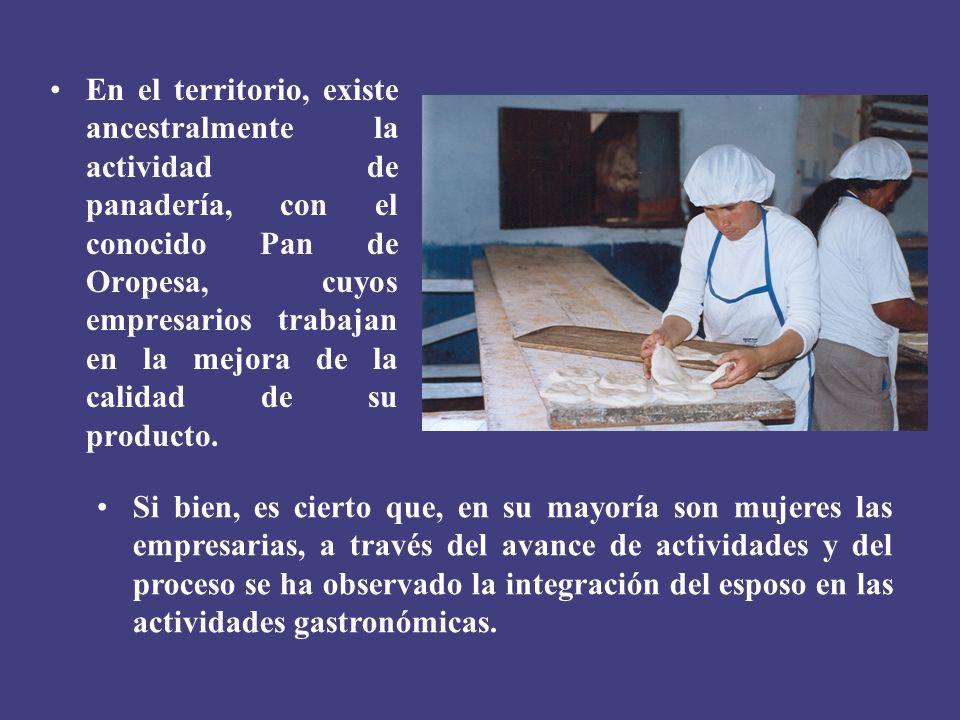 En el territorio, existe ancestralmente la actividad de panadería, con el conocido Pan de Oropesa, cuyos empresarios trabajan en la mejora de la calid