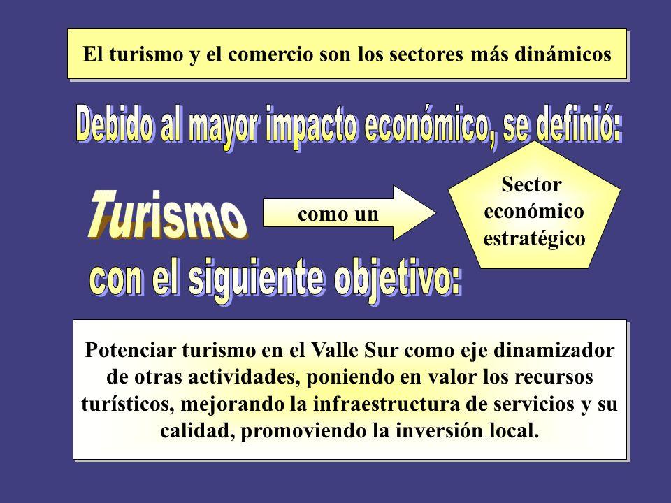 Se realizó un estudio del sector turismo, el que: La tipología del producto turístico del Valle Sur La curva del ciclo de vida del producto turístico del Valle Sur
