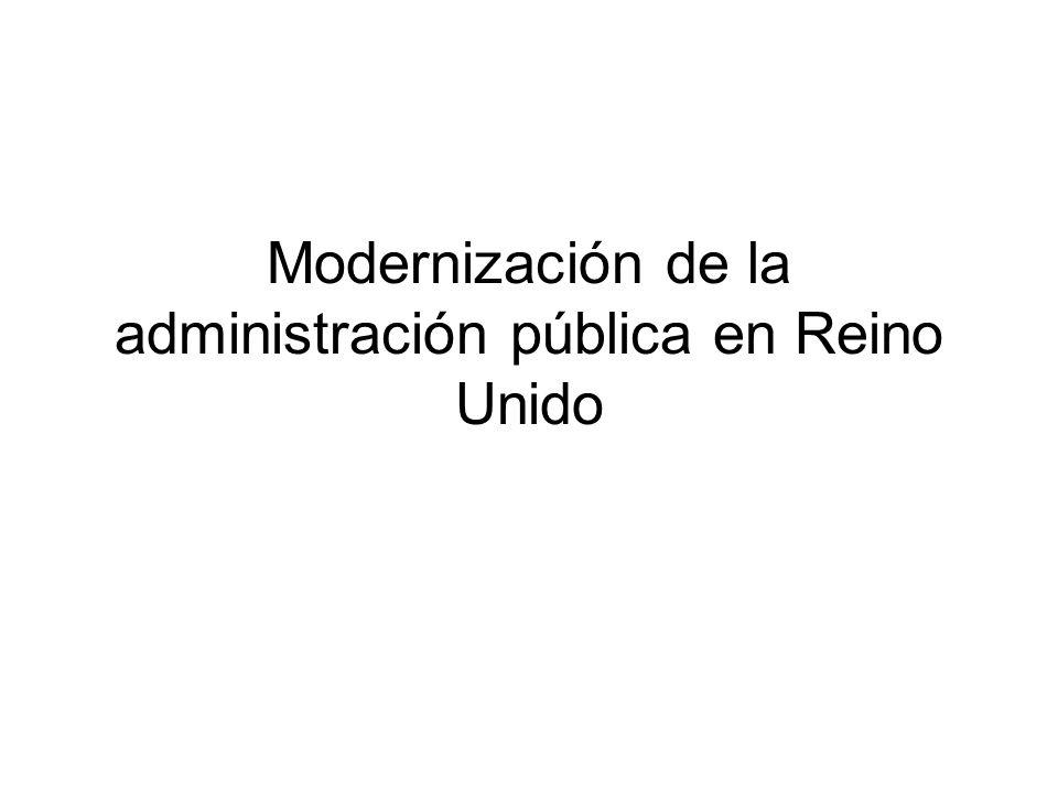 Unidad de eficiencia La Unidad de eficiencia ha hecho 400 revisiones desde 1979 Las agencies del gobierno central se revisan cada 5 años en base a los siguientes tests: –Hace falta hacer la función.