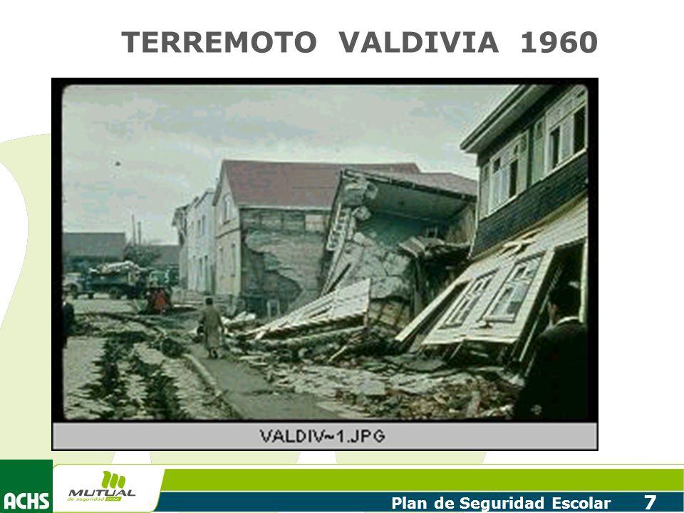 Plan de Seguridad Escolar 7 TERREMOTO VALDIVIA 1960