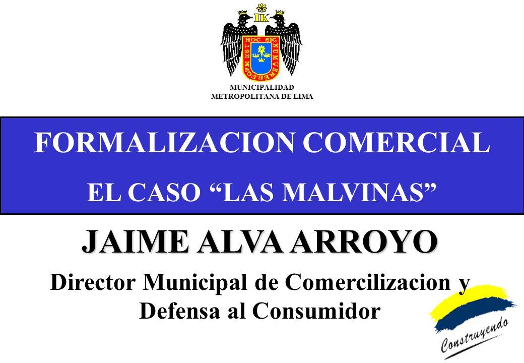 CASO LAS MALVINAS ESTRATEGIAS Involucrar directamente a los comerciantes, y demás actores.sociales y económicos, en la identificación de la problemática de la.zona y en la elaboración de alternativas de solución.