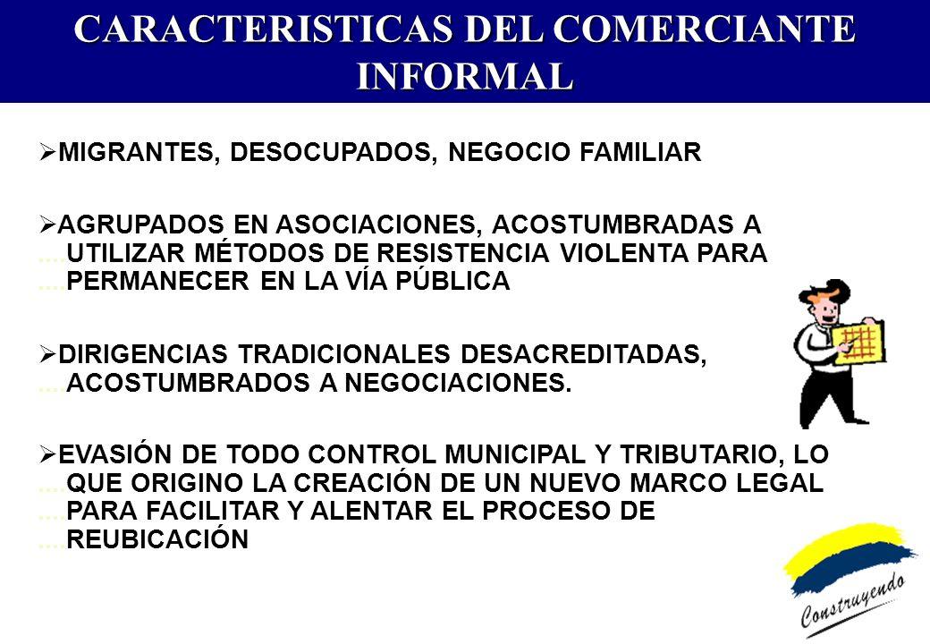 La Municipalidad Metropolitana de Lima es un ente promotor de la formalización del comercio informal organizado.