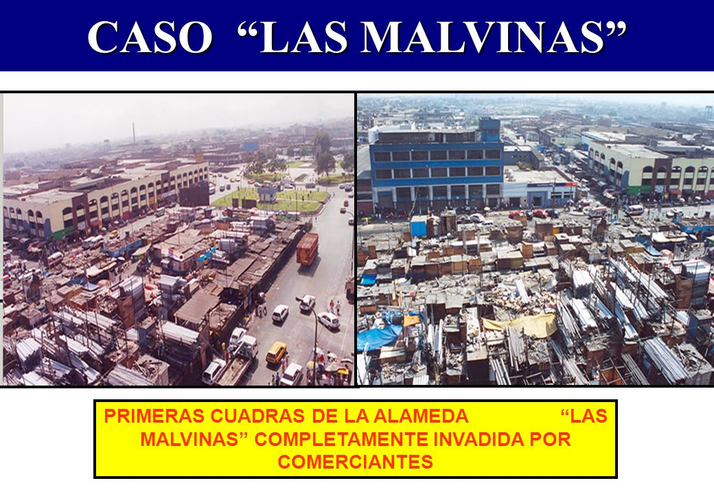 CASO LAS MALVINAS COMERCIANTES PROCEDEN A DESOCUPAR LAS CALLES QUE HABÍAN TOMADO