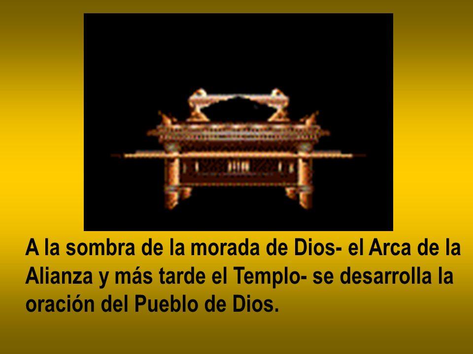 A la sombra de la morada de Dios- el Arca de la Alianza y más tarde el Templo- se desarrolla la oración del Pueblo de Dios.