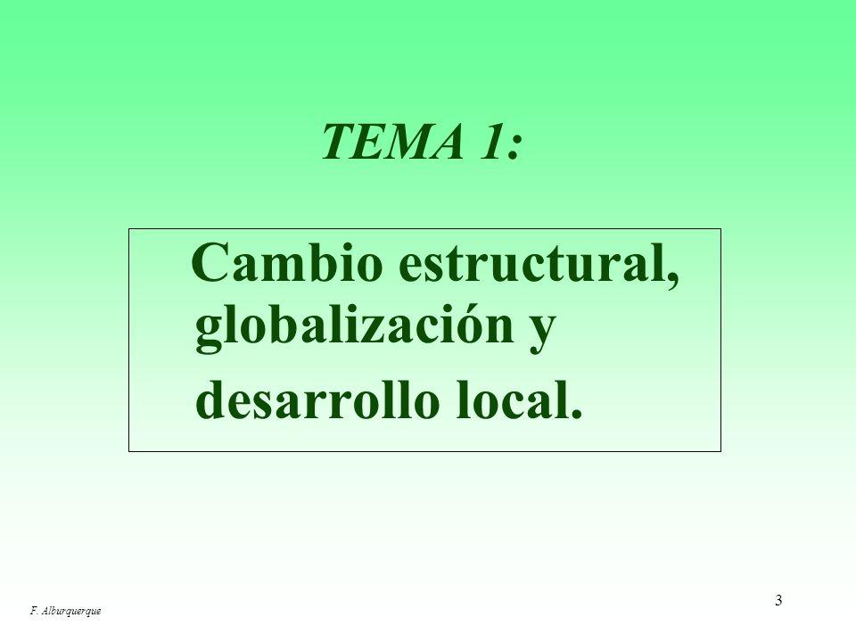 2 TEMAS PARA LA SESIÓN DE HOY: 1.Cambio estructural, globalización y desarrollo local. 2.Superando la visión tradicional del desarrollo: el enfoque de