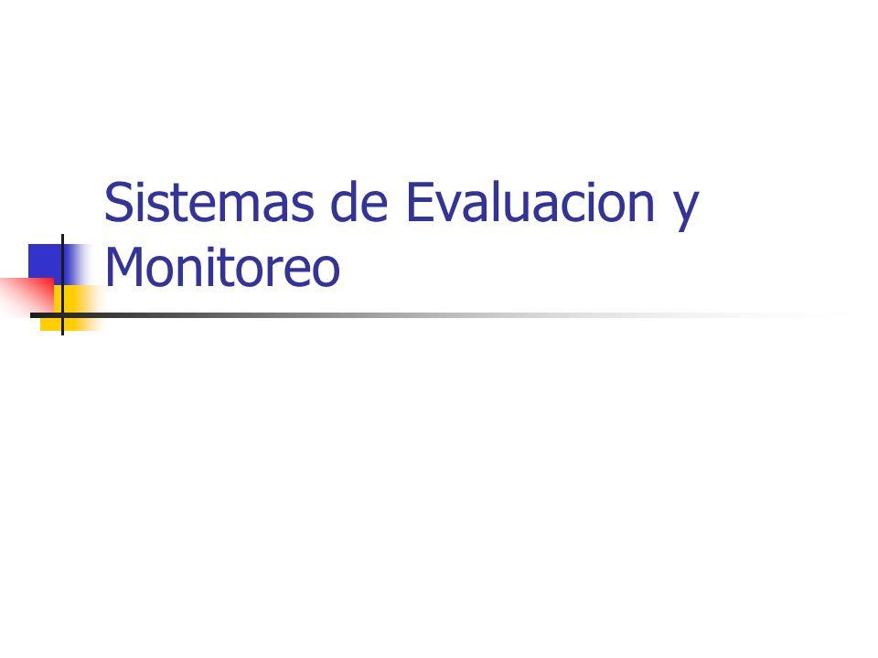 Sistemas de Evaluacion y Monitoreo