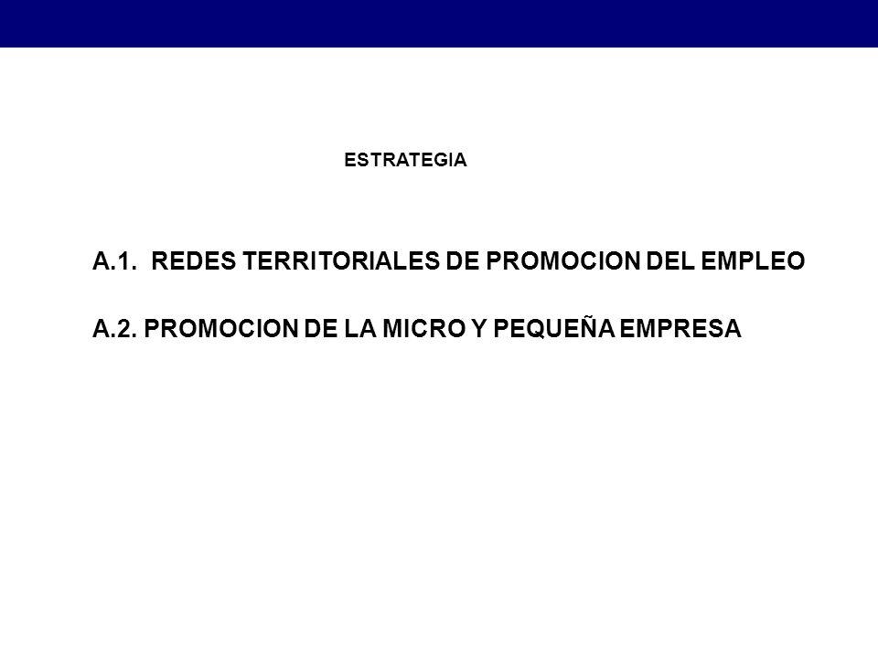 A.1. REDES TERRITORIALES DE PROMOCION DEL EMPLEO A.2.