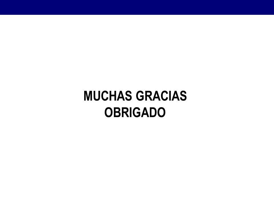 MUCHAS GRACIAS OBRIGADO