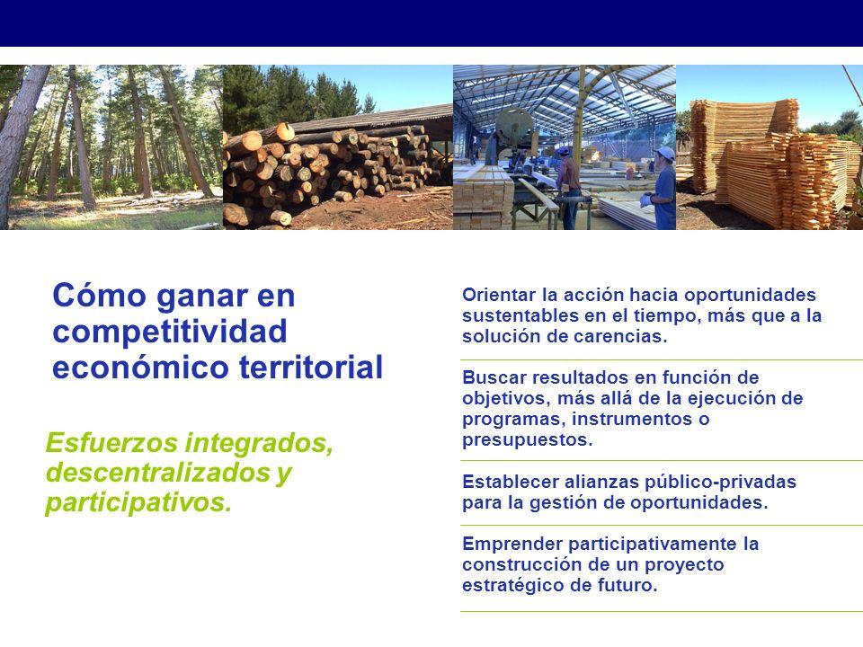 Cómo ganar en competitividad económico territorial Esfuerzos integrados, descentralizados y participativos.
