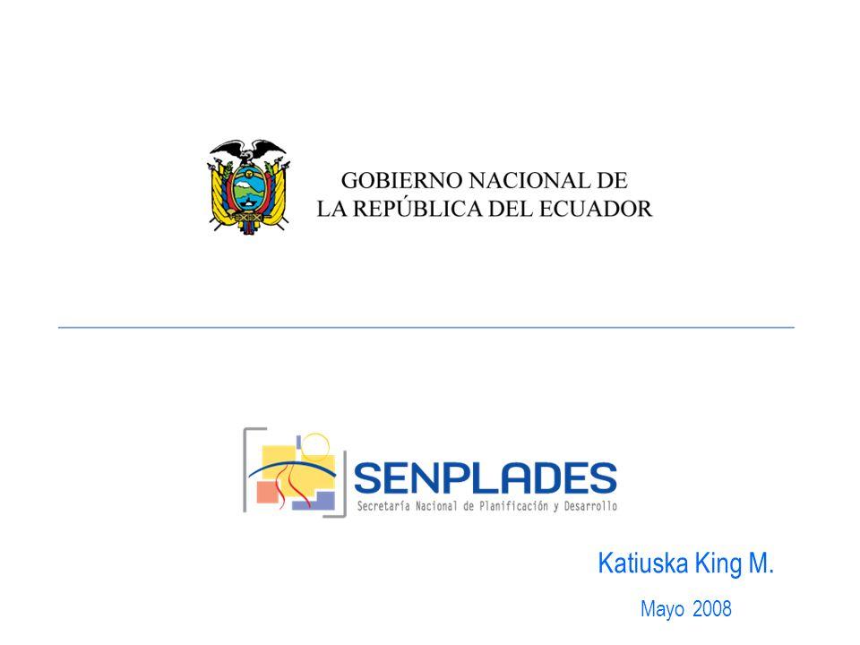 Competencias Secretaria General de la Administración pública –Ministerios coordinadores –SIGOB Corto plazo Secretaria Nacional de Planificación y Desarrollo –Subsecretarias regionales –PND Mediano y largo plazo