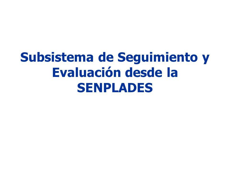 Subsistema de Seguimiento y Evaluación desde la SENPLADES