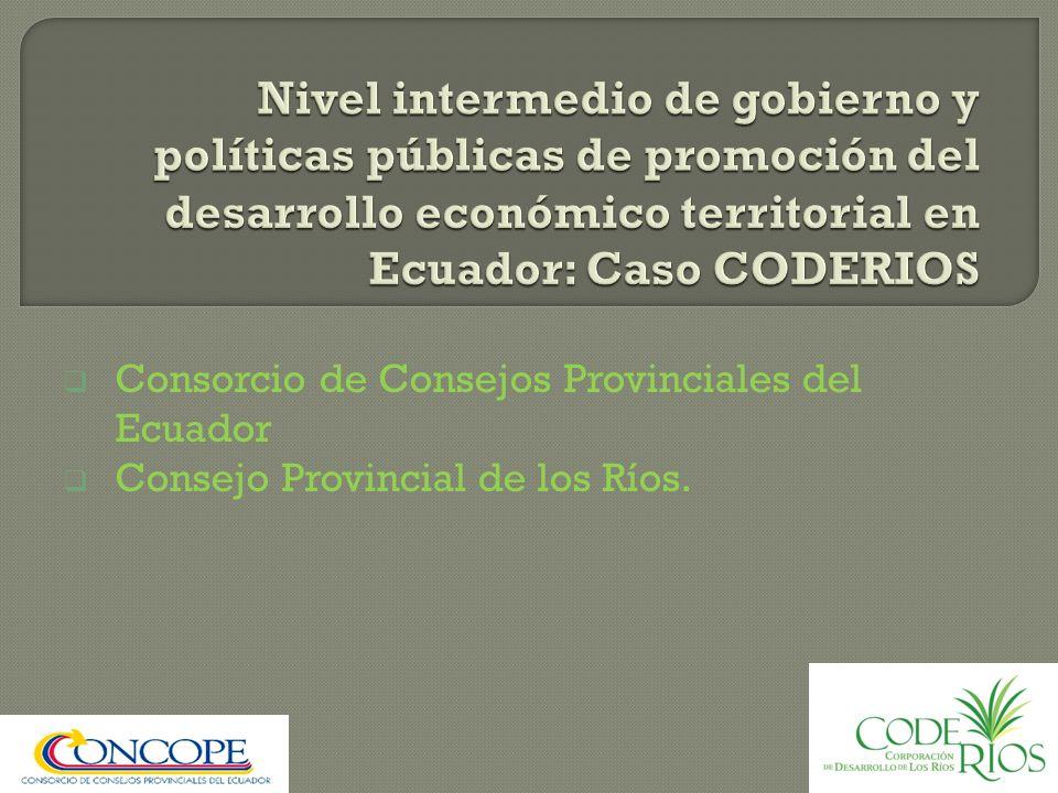 Consorcio de Consejos Provinciales del Ecuador Consejo Provincial de los Ríos.